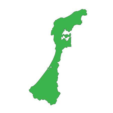 Map Ishikawa, Japan