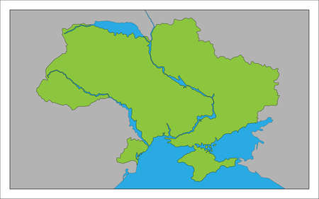 Here's a map of Ukraine. Illustration