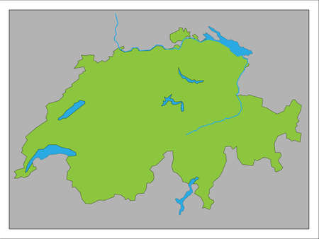 It is a map of Switzerland.