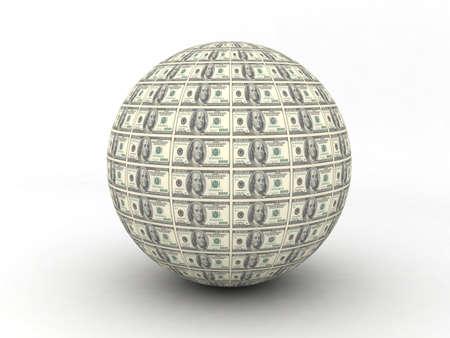 money sphere: Money Globe