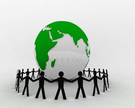 People around globe photo