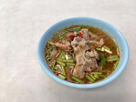 Spicy boiled cartilage broth Super spicy, super delicious Sweet and sour Is a food that is suitable for people who like to eat spicy Cartilage is crunchy and chewable.