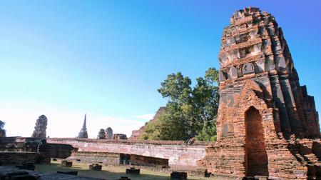 buddism: Pagoda of the ruins of Ayutthaya Stock Photo