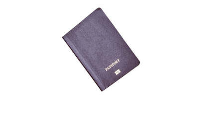 customs official: Blank Passport template cover for copy space. Stock Photo