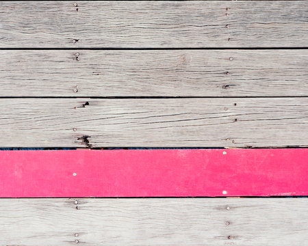 red stripe: Wooden Plank Background with Red Stripe