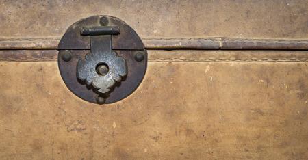 tresure: Locking clip on a Vintage treasure box with copy space