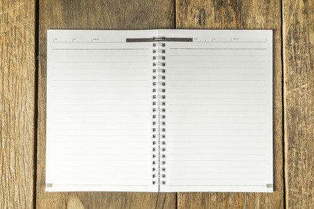 blank space: A blank book on Rustic Background for copy space Stock Photo