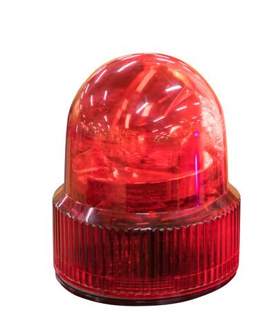 emergency light: Emergency light service Siren isolated on white