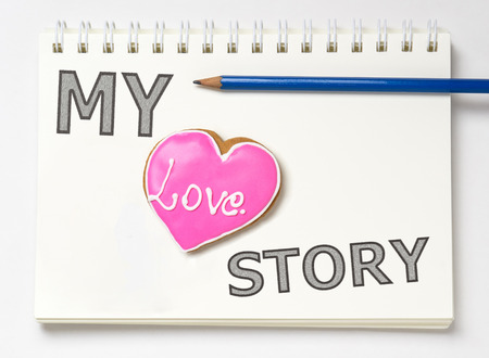 My love Story Book Stock Photo