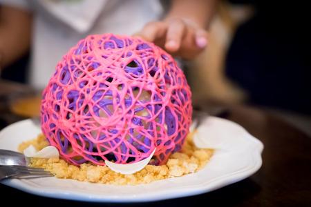 crush on: nested purple sugar crush Cake