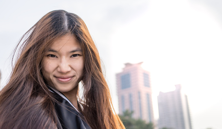 chinese sex: Cute Long Chinese girl in Baseball jacket