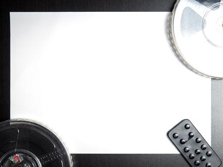 videocassette: medios película de la vendimia con el mando a distancia