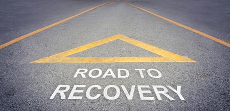 回復方向概念への道 写真素材