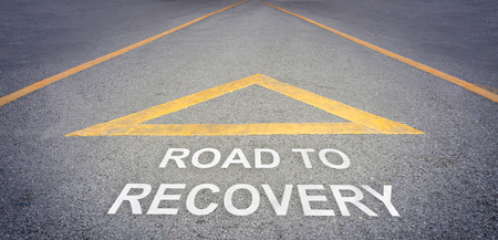 recovery: Road to recovery direction concept
