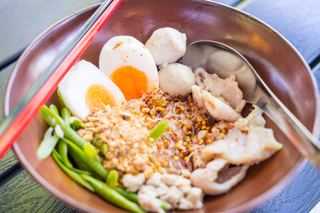 Thai Pork Noodles Egg