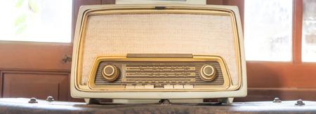 receiver: Vintage Radio Receiver Bright light
