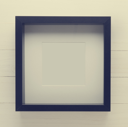 thick: Black Thick picture frame in vintage tone. Stock Photo