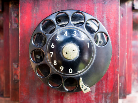 dial pad: Classic Vintage wooden phone metal dial pad
