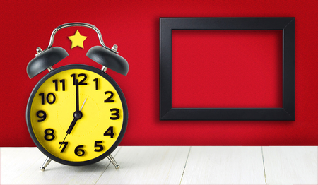 communism: Communism Alarm Clock with blank photo frame copy space