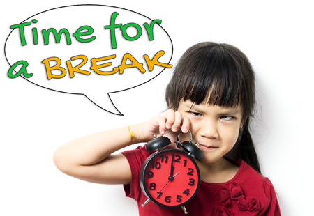 Time for a break educational concept. Children in Education do not need to over do their study. They can benefit from taking a break as well. Let them play rest and be educated for their great EQ.