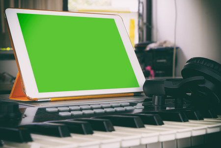 blank tablet: Tablet music production application blank screen