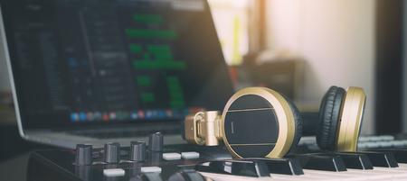 Computer Music Producer Home setup studio Standard-Bild
