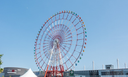Tokyo, Japan - May 2, 2017: The Giant ferris wheel in Odaiba Island Tokyo. Editorial