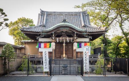 Tokyo, Japan - May 8, 2017: Shinobazunoike Bentendo located in the pond of Ueno park.