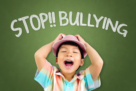 fearful: Boy is screaming loud to stop Bullying