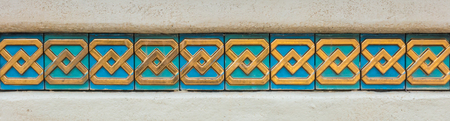 Arabian art wall tiles for texture and background.
