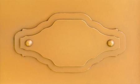 De lege Oranje markering van het metaalteken voor omhoog spot
