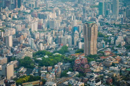 Tokyo commercial buildings and sky scrapers aerial view Stock Photo - 83764568