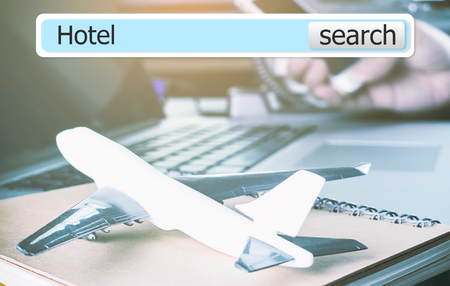3D Hotel search bar for business travel