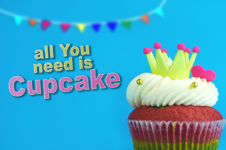 Crown king rainbow cupcake party all you need is cupcake