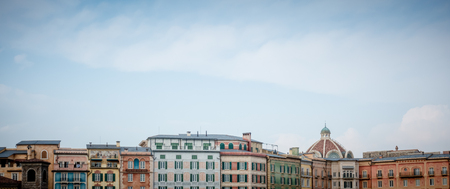 European building structure under the blue sky