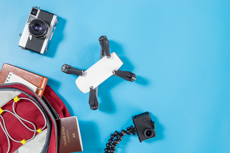 packing Hi Tech travel gadgets for vacation travel
