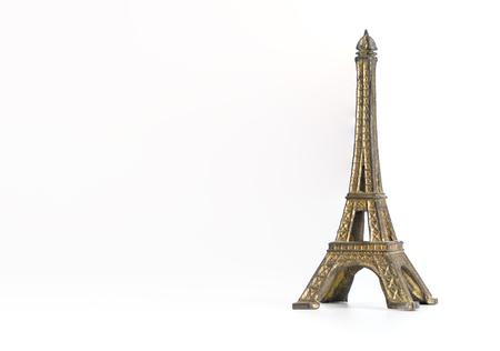 Métal tour eiffel jouet souvenir isolé sur blanc Banque d'images - 84815646