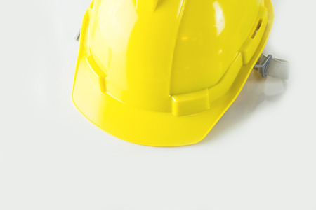 Yellow Construction Safety Helmet on white background Reklamní fotografie - 86202360