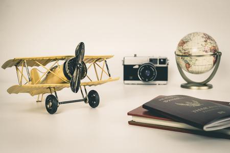 Vintage travel object for travel explorer concept
