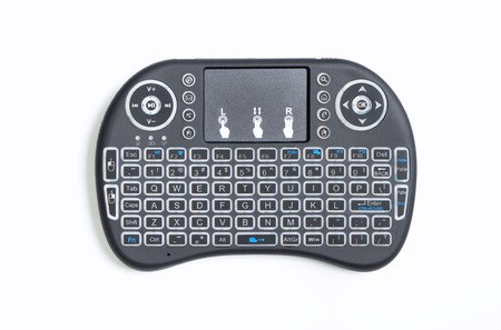 Portable wireless bluetooth keyboard Pad and remote controller for computer and TV box