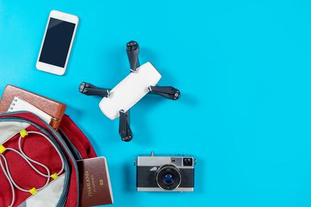 백팩커 관광 여행용 장치 및 배낭의 물건