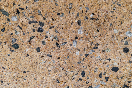 Concrete floor with rock for texture and background Banco de Imagens