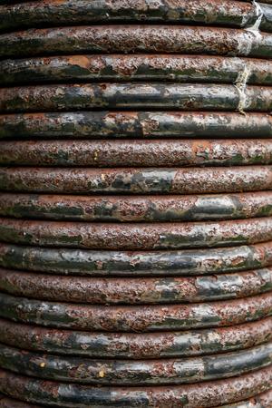 Dirty Rustic Black Metal spring coil texture Reklamní fotografie