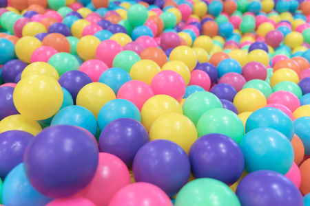 Colorful Plastic toy balls in Ball pool playground