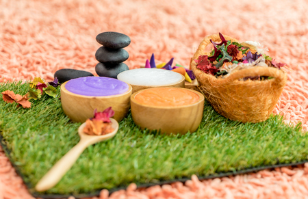 Colorful Beauty Spa objects for Spa Massage concept