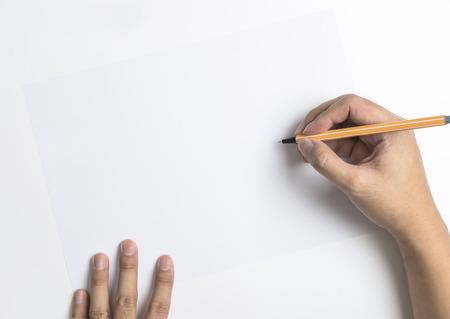 Mão, escrita, branca, cópia, espaço, texto, massagem, bandeira