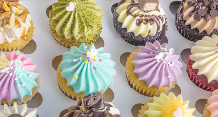 Set of Mini fancy cupcake in a boxes