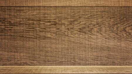 Wooden surface with shelf counter for product display