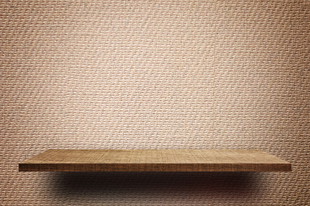 Empty Brown display wooden shelf counter brown Vintage paper texture