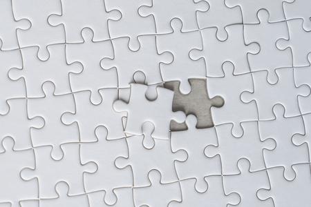 La última pieza de rompecabezas blanco está casi en su lugar para el concepto de solución empresarial